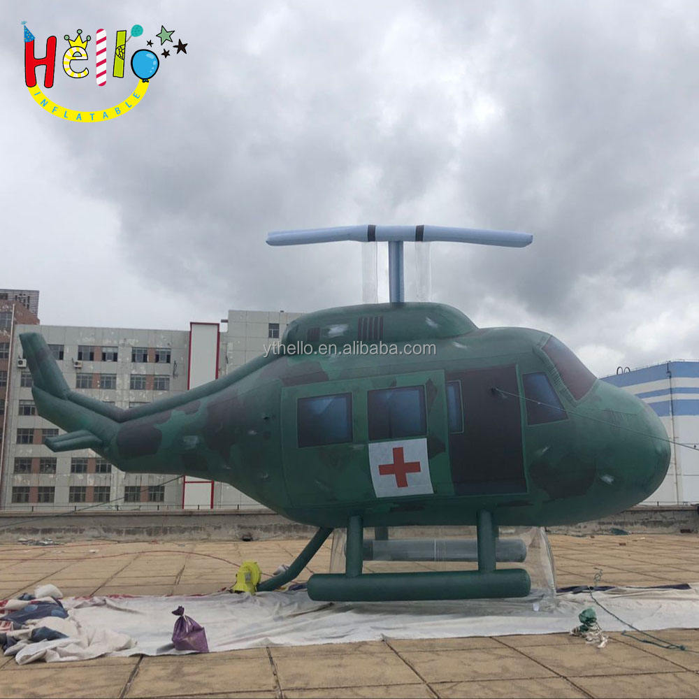Iklan Inflatable Helikopter Militer Inflatable Pesawat
