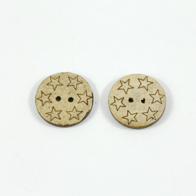2 Holes Round Natural clothes garment Coconut Button