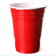 16oz Plastic Red American Party Cups