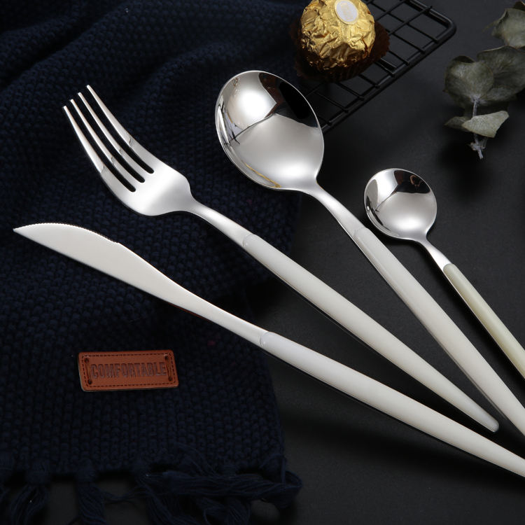 Hot sale promotional high-grade daily use stainless steel cutlery 4pcs flatware set
