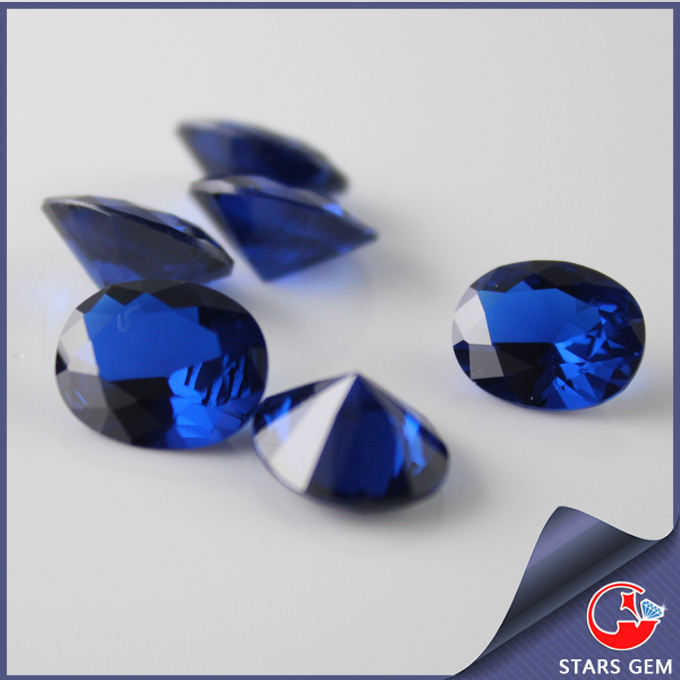 10*8mm top grade 34# corundum for jewelry making oval blue sapphire