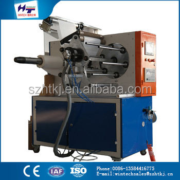 China new product food paper cone winding of re-reeling machine rewinding machine