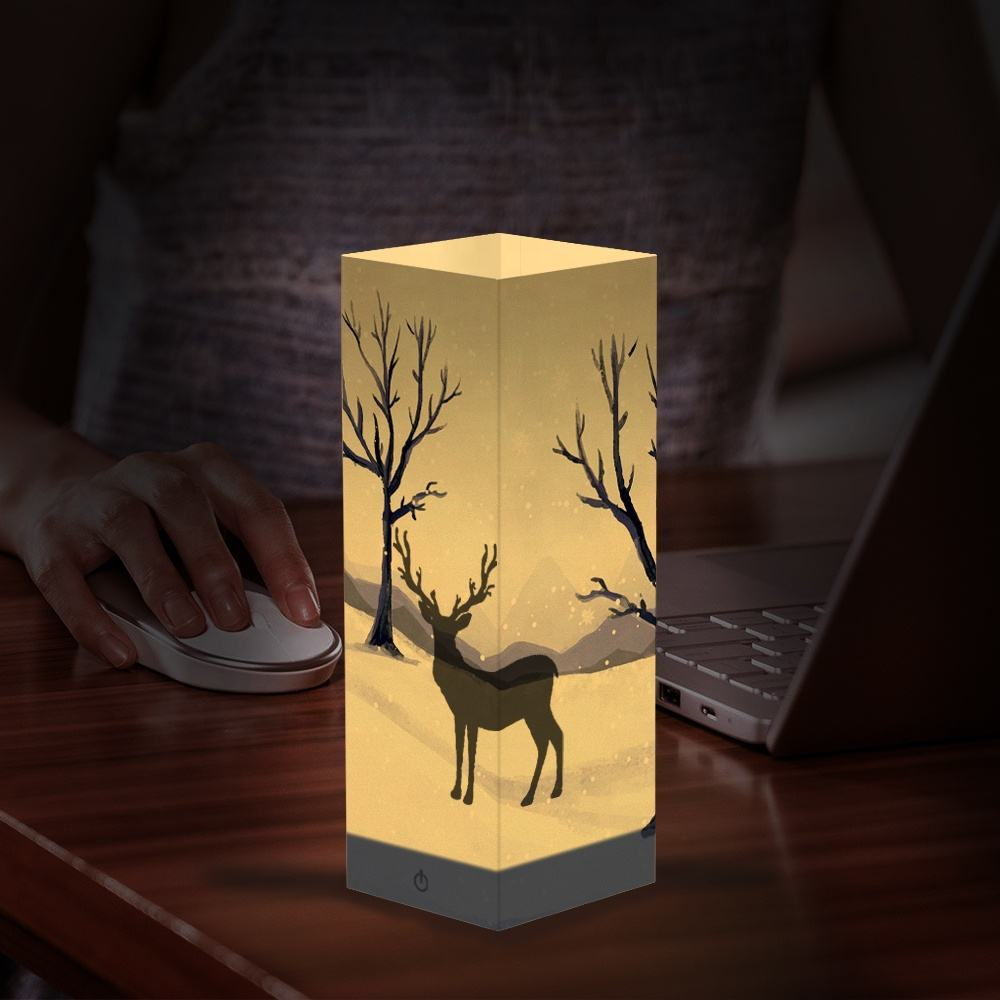 3d Papier Shadow Lamp Fancy Home Licht Decoratie Accessoires 3d Desktop Verlichting