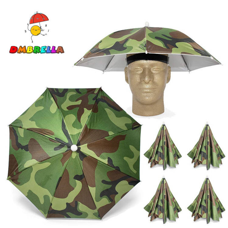 Golf Fishing Camping Novelty Headwear Cap Umbrella Hat