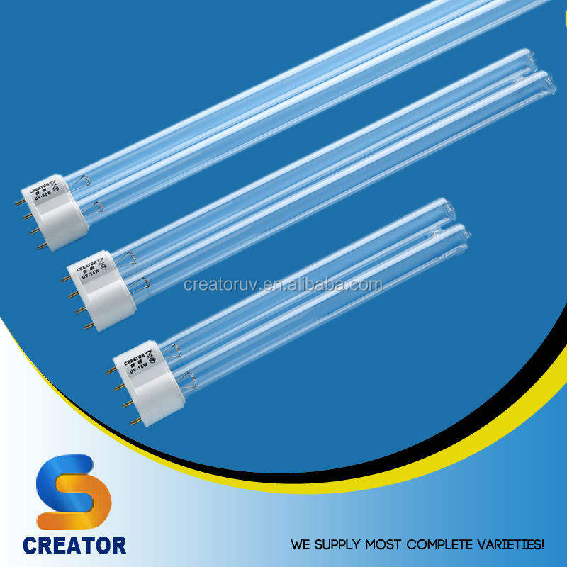Creator H shape 254nm UVC 5w 7w 9w 11w 36w 55W G23 2G11 lamp uv