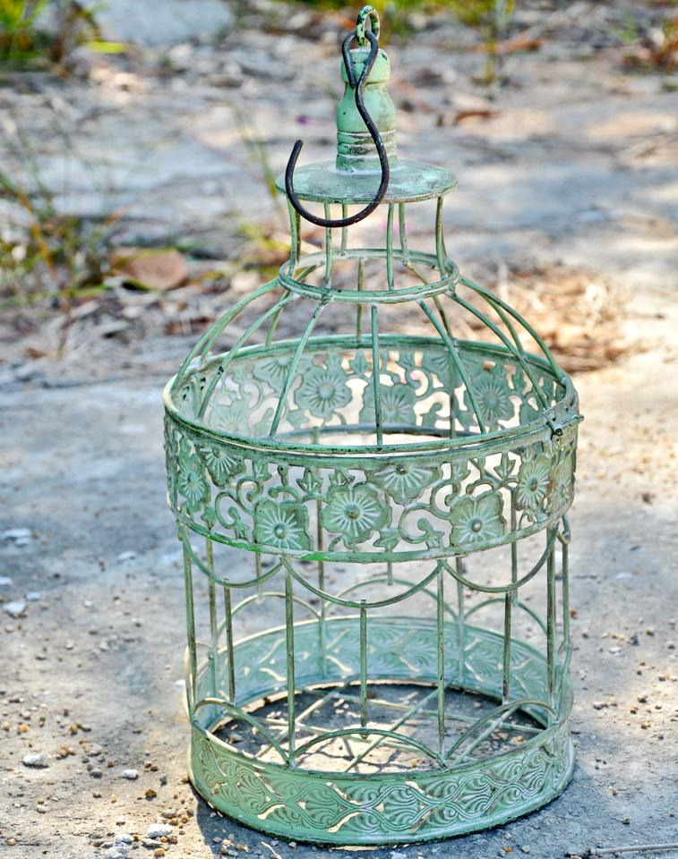 antique bronze metal Bird Cage