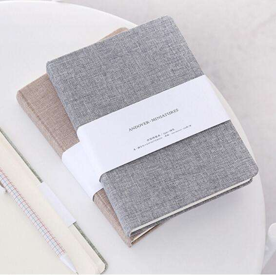 Cloth Linen Journal Notebook Hard Cover Diary with Blank And Lined Paper 128 Sheets