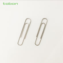 Nickel plated metal paperclips 33mm