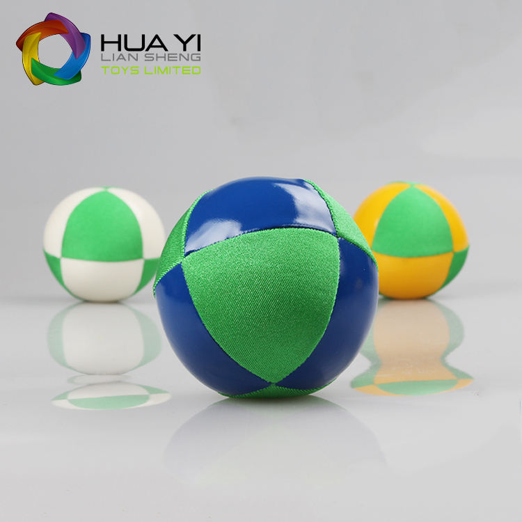 Wholesale Custom The Logo Print Colorful Pu Leather Juggling Ball for Sale