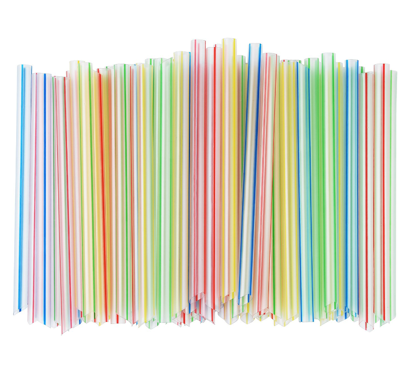 food grade Eco-friendly giant pp clear pajillas plastic spoon straw disposable jumbo pearl boba drinking straw