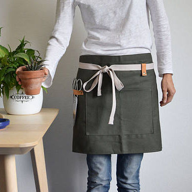 Newest design garden half denim apron