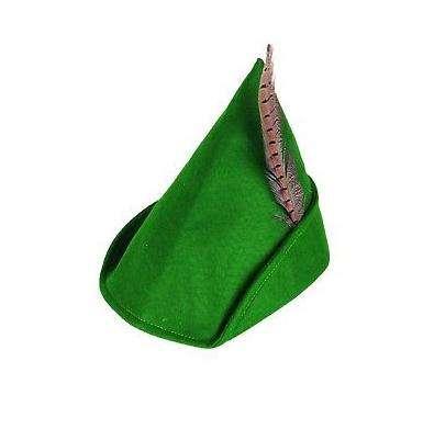 Mens Green Felt Robin Hood Oktoberfest Festival Fancy Dress Costume Outfit Hat