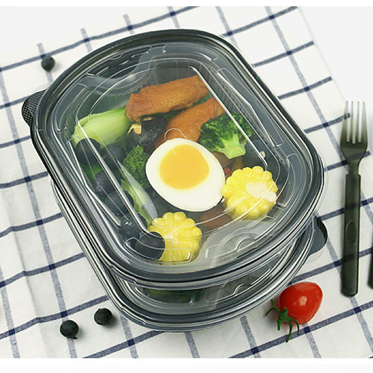Food Meal Box Disposable Plastic Double Layer Hot Pot Lunch Box