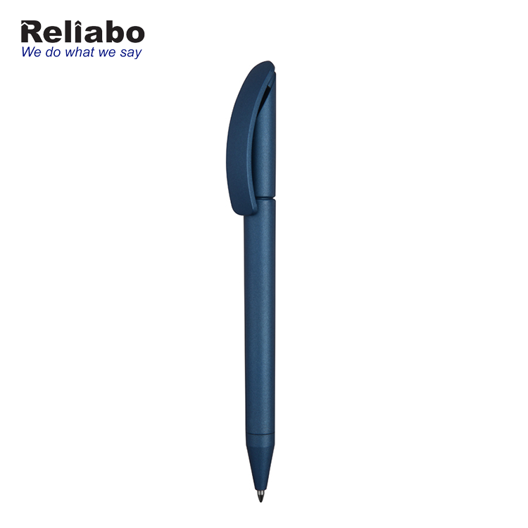Reliabo New Products Promotional Children Stationery Matte Blue Colour Plastic Pen