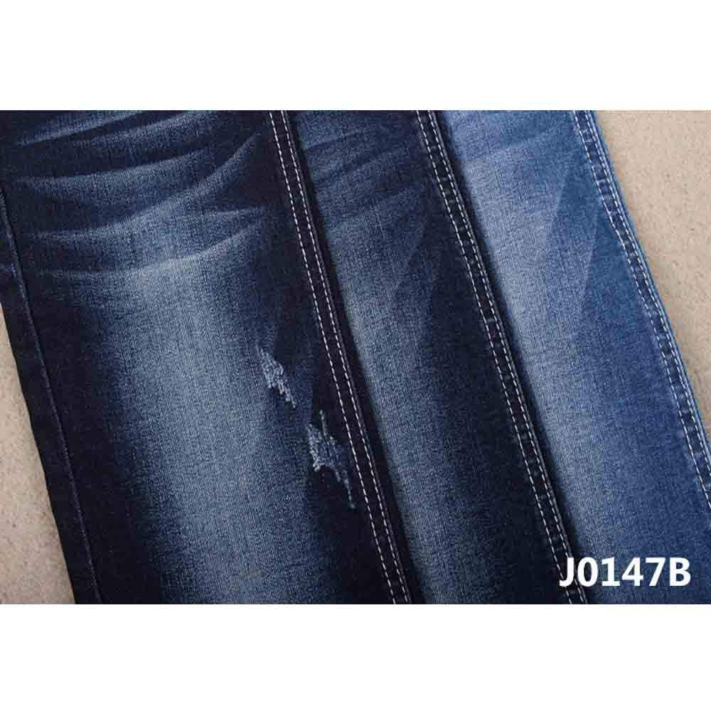 Cheap price for cotton poly rayon lycra 10.2oz wholesales warp slub denim fabric make for men and women jean