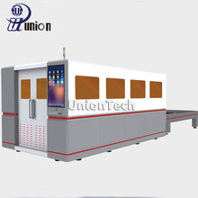 cnc fiber sheet metal laser cutting machine cnc IPG fiber laser cutting machine with cover