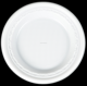 white PS disposable plastic round plate