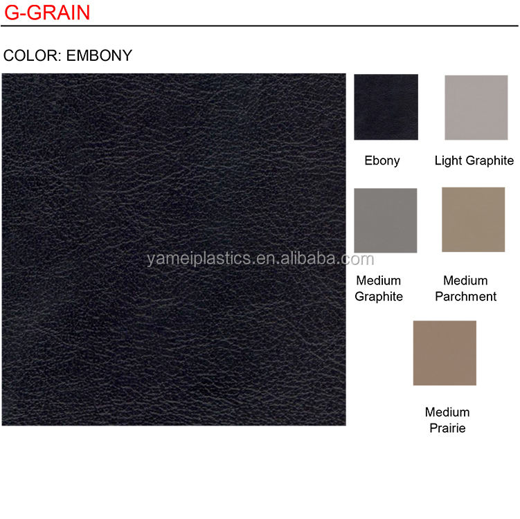 Polyurethane Vinyl Graphite Pebbled Auto Home Faux Leather Leatherette BY THE YD