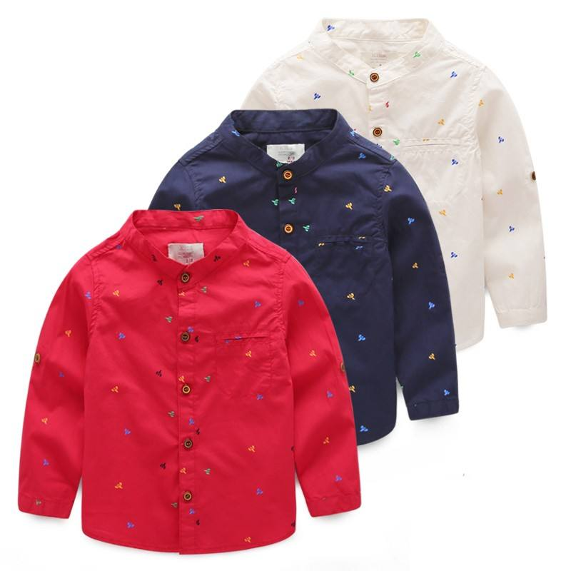 China Supplier Korean Designer Kids Wear Clothing Cotton Child Shirt For Wholesale