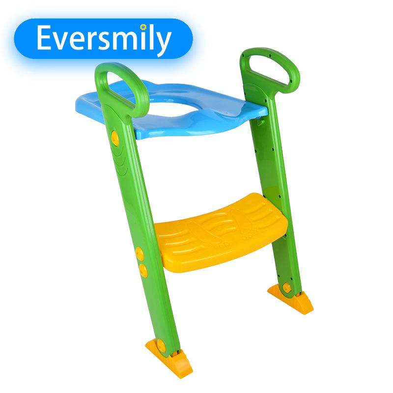 Portable kids toilet seat Online shopping plastic baby toilet potty training with adjustable Ladder
