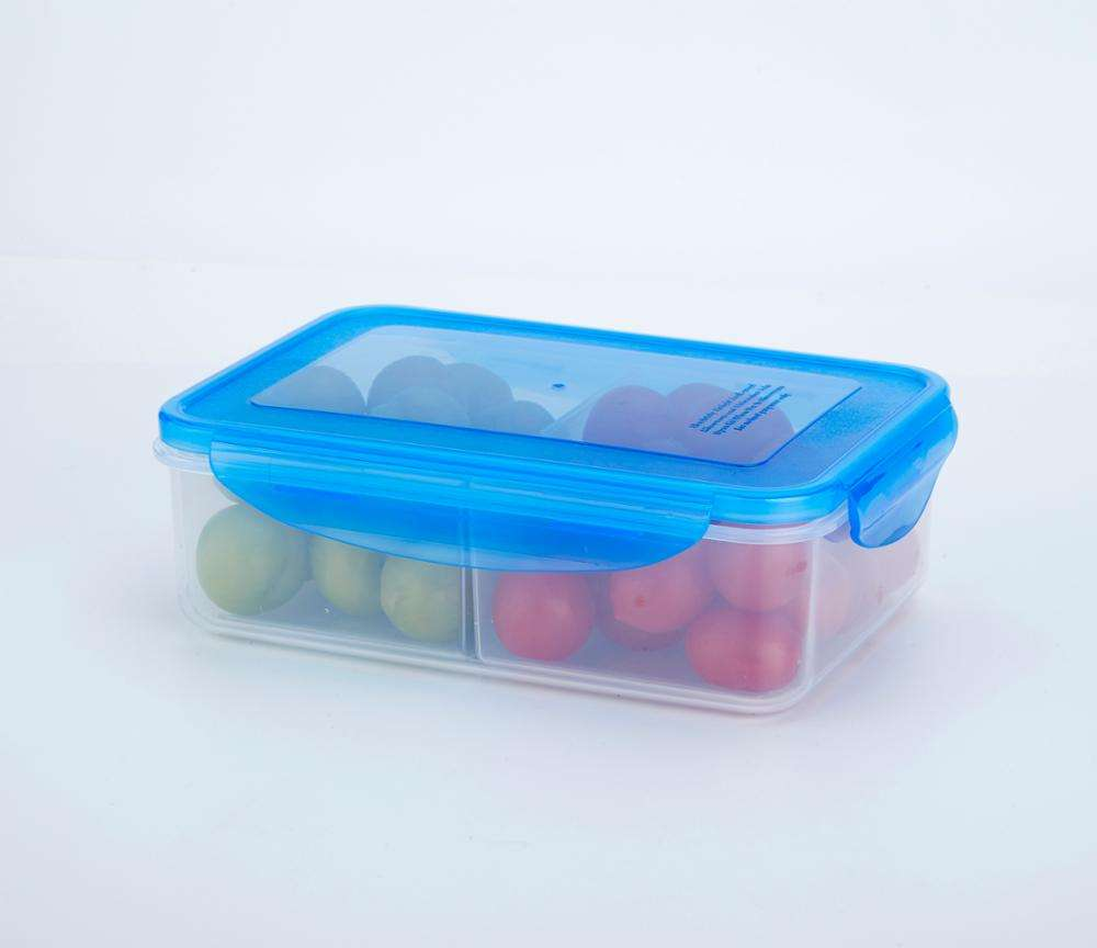 EASGA 1500 미리리터 Hot Sale 2 칸 플라스틱 식품 airtight storage container 상자 와 lock with 2 divider