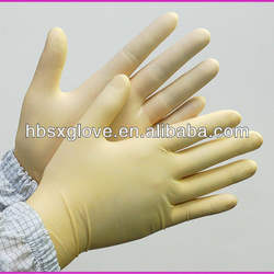 latex medical surgical gloves sterile pre powder
