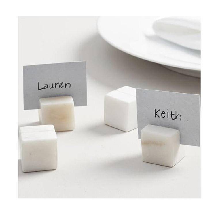 Hand Craft Elegant Marble Place Card Holder Set Of 4