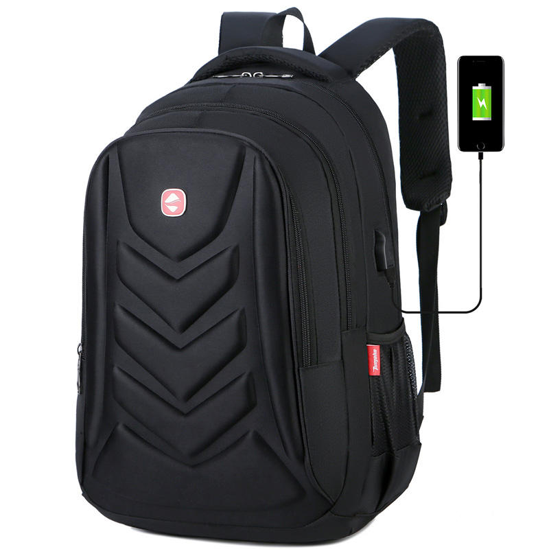 USB charge tough 15.6 inches laptop bag shockproof pad type backpack