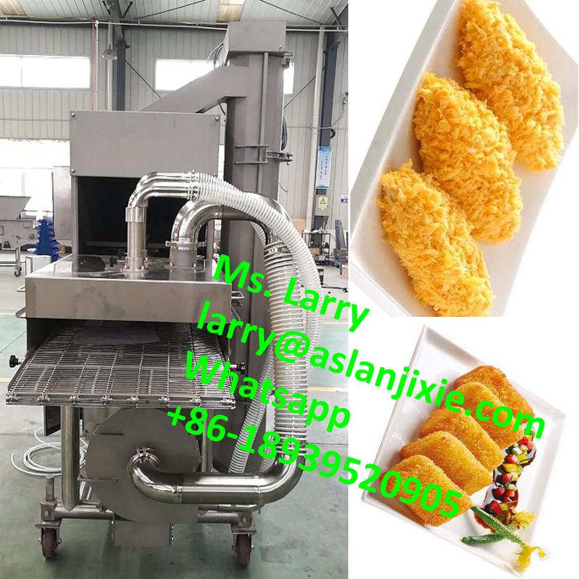 chicken nuggets spices covering machine/fish steak slurry coating machine