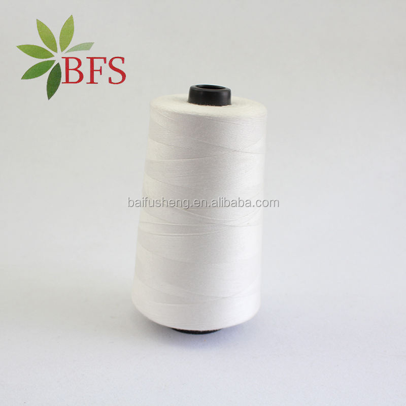 Wholesale Low Price White 100% Cotton Sewing Thread