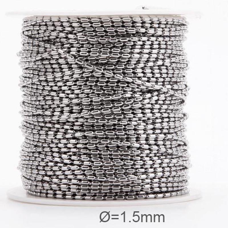 new hot selling products anti allergy 316 stainless steel ball chain roll