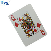 ISO 15693 ICODE SLIX Chip RFID Poker Playing PVC Card for Casino