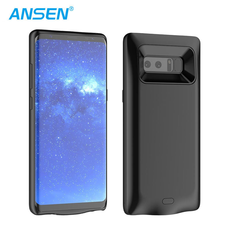 Top Luxury Protective Charging Battery Pack Extended Power Bank Fast Charger for Samsung Note 8 Smart Phone Battery Case