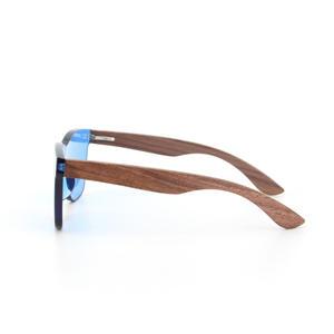Logo gravé personnalisé mode lunettes de soleil en bois de bambou polarisées
