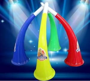 World Cup Games Football Megaphone Cheering Plastic Horn