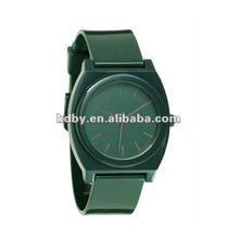 Matt color time teller flat plastic watch thin strap watch
