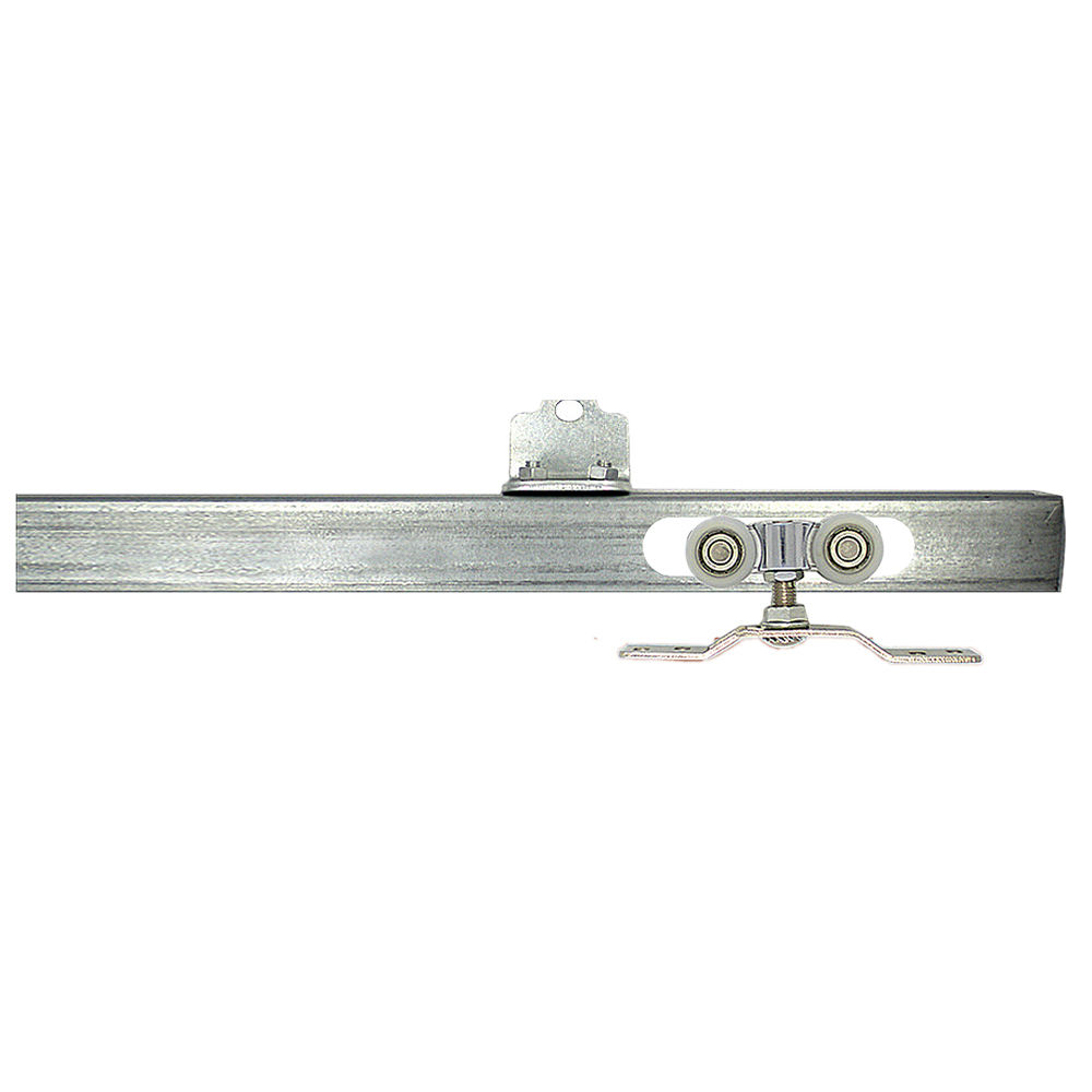 2.4m*1.2mm Heavy Duty Sliding Door Hanger Glide Track Rail With Hanging Guide Wheel Rollers
