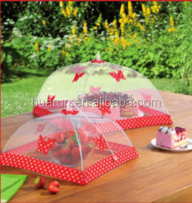 umbrella food cover with butterfly decoration