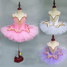 Professional Ballet Tutu For Girls Classical Ballet Costume Kids Competition Performance Wear TUTU Ballerina Dress DN2195