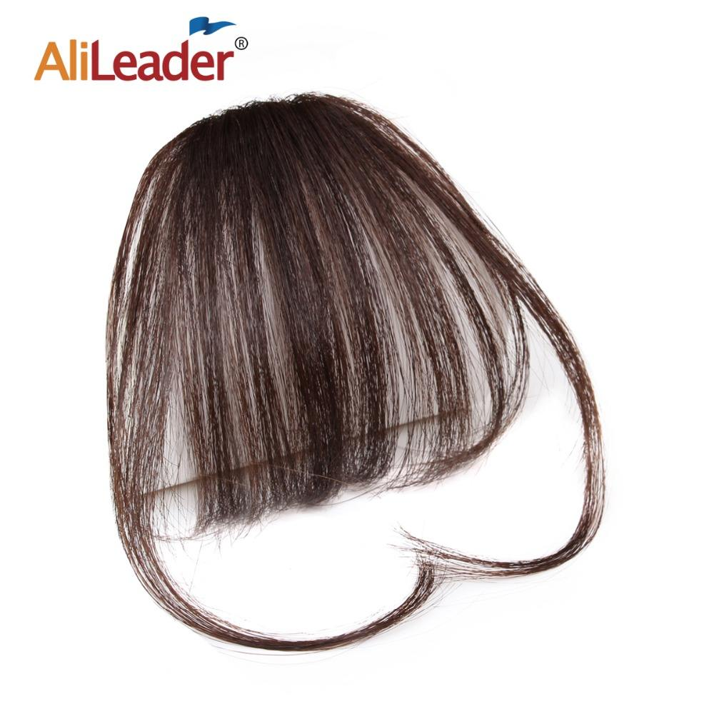 AliLeader Hot Sale Brazilian Remy Clip in Extension Bangs ,Top Quality Wholesale Cheap 100% Human Hair Fringe For Ladies'beauty
