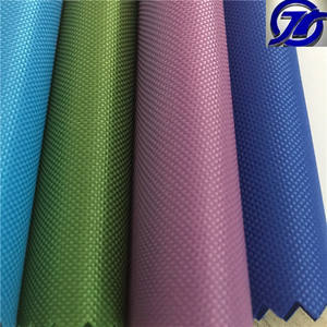 400D waterproof high elastic pvc coated polyester fabric for school bag material