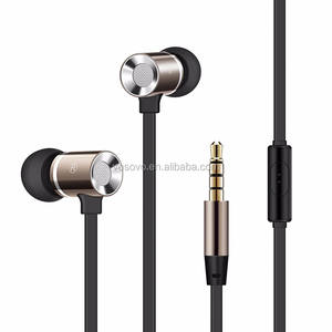 3.5 Mm Earphone Kabel Earphone Di Telinga Stereo Earbud dengan MIC Anti Kebisingan Earpiece Earbud