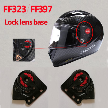 LS2 FF323/397 carbon fiber motorcycle helmet shield lock visor lens base Suitable for LS2 FF323 FF397