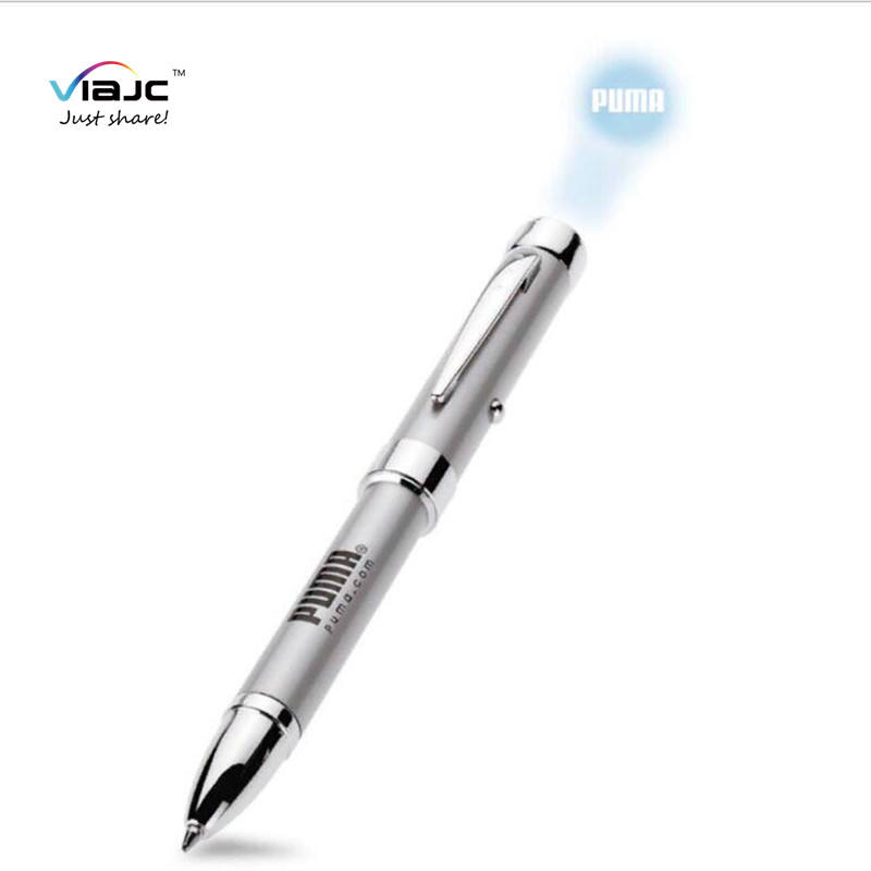 Promotion gift OEM logo led flashing Projector pen metal projector pen
