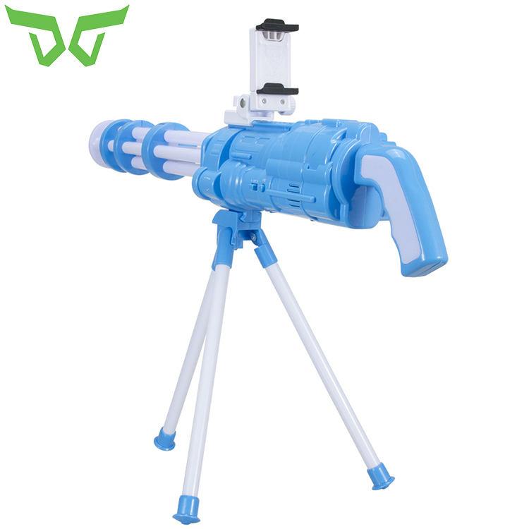 2017 neueste Tragbare Bluetooth AR Game Gun Neueste art 3D VR Spiele Kunststoff Material Spielzeug AR-Gun für Android