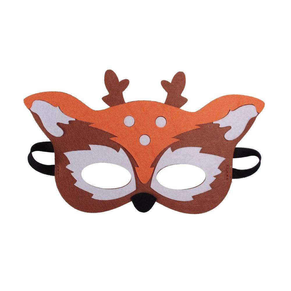 8 Felt Masks Great for Forest Themed Birthday Parties Novelty Dress-up and Halloween