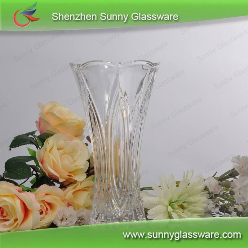 Wholesale crystal glass vases for flower