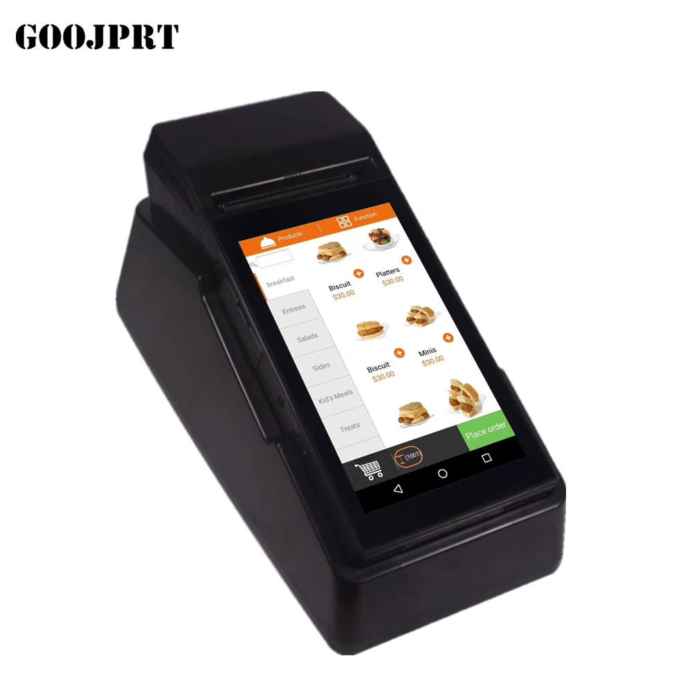 Android Wifi Blue zahn Handheld Pos PDA Built-in 80mm Printer With 7.0 Inch Touch Screen