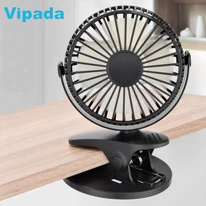 XH-09 Clip on Rechargeable Fan USB Battery Mini Desk Stand Small Chargeable Fans for Baby Stroller Camping Outdoor Home Office
