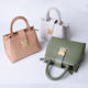 New arrival wholesale PU leather handbag with matte gold love metal lock cross-body bags for ladies